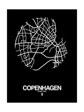 Copenhagen Street Map Black