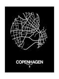 Copenhagen Street Map Black