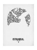 Istanbul Street Map White