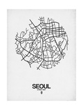 Seoul Street Map White