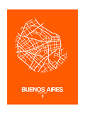 Buenos Aires Street Map Orange