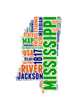 Mississippi Word Cloud Map