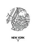 New York Street Map White