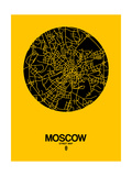 Moscow Street Map Yellow