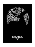 Istanbul Street Map Black