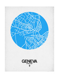 Geneva Street Map Blue