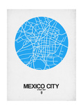 Mexico City Street Map Blue