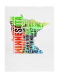 Minnesota Watercolor Word Cloud