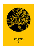 Athens Street Map Yellow