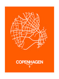 Copenhagen Street Map Orange