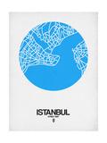 Istanbul Street Map Blue