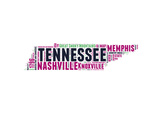 Tennessee Word Cloud Map