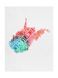 West Virginia Watercolor Word Cloud