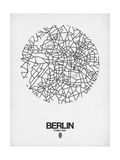 Berlin Street Map White