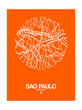 Sao Paulo Street Map Orange