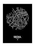 Seoul Street Map Black