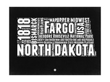 North Dakota Black and White Map