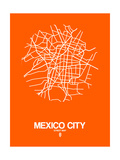 Mexico City Street Map Orange