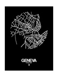 Geneva Street Map Black