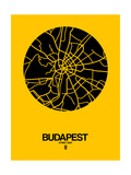 Budapest Street Map Yellow
