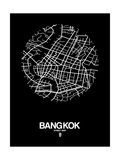 Bangkok Street Map Black