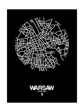 Warsaw Street Map Black