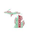 Michigan Word Cloud Map