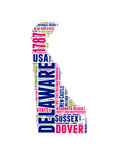 Delaware Word Cloud Map