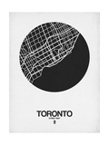 Toronto Street Map Black on White