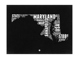 Maryland Black and White Map