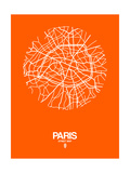 Paris Street Map Orange