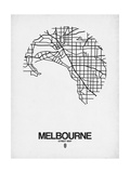 Melbourne Street Map White