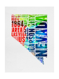 Nevada Watercolor Word Cloud