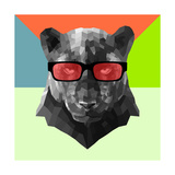 Party Panther in Red Glasses