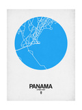 Panama Street Map Blue