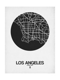Los Angeles Street Map Black on White