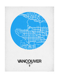 Vancouver Street Map Blue