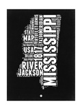 Mississippi Black and White Map