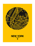 New York Street Map Yellow