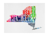 New York Watercolor Word Cloud