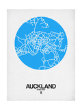 Auckland Street Map Blue