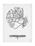 Copenhagen Street Map White