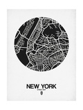 New York Street Map Black and White
