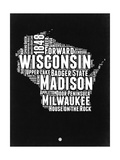 Wisconsin Black and White Map