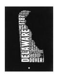 Delaware Black and White Map