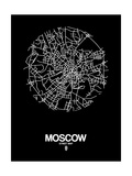 Moscow Street Map Black