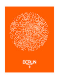 Berlin Street Map Orange