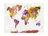 World Map in Watercolor