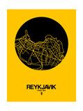Reykjavik Street Map Yellow
