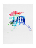 Alaska Watercolor Word Cloud